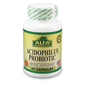 1.Alfa vitamins acidophilus probiotic 300 mg