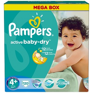 1.Pampers Active Baby 4 Maxi Plus